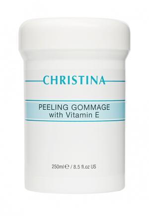 Пилинг-гоммаж с витамином Е Christina. Цвет: белый
