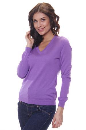 Джемпер с V - вырезом Expression. Цвет: фиолетовый