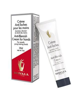 Крем против пигментных пятен Anti-Blemish Cream for hands 30ml Mavala. Цвет: белый