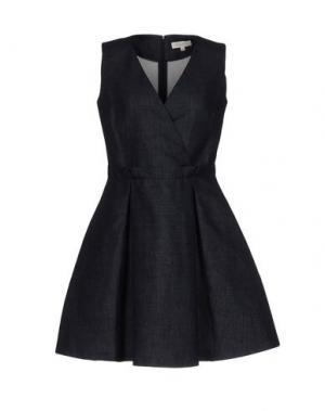Короткое платье ANTONELLI. Цвет: синий