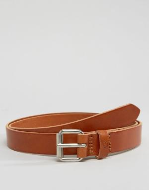 Fjallraven Светло-коричневый кожаный ремень Singi 2,5 см. Цвет: рыжий