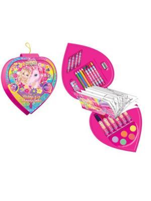 Подарочный набор для творчества 29 предметов Mattel Barbie. Цвет: розовый