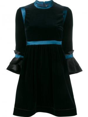 Бархатное платье Neruda Roksanda. Цвет: синий