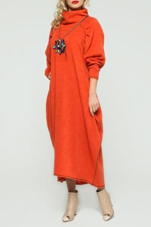 Теплое платье свободного покроя с рукавами реглан Kata Binska. Цвет: оранжевый