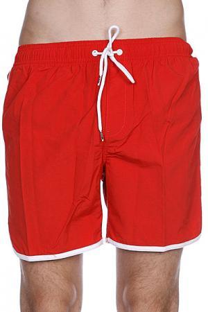 Пляжные мужские шорты  Dana Retro Pool Short Red Clay Globe. Цвет: красный