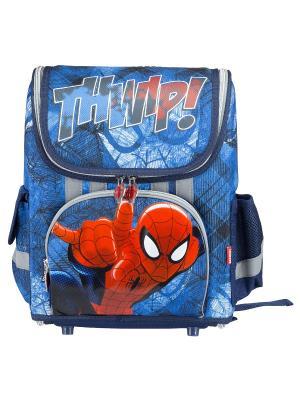 Ранец-трансформер профилактический с EVA-спинкой. Spider-man Classic. Цвет: голубой, красный