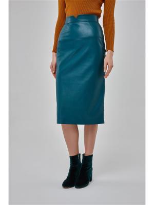 Юбка Voland Leather Green Katya Erokhina