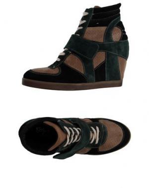 Высокие кеды и кроссовки GIACKO. Цвет: песочный