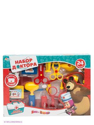 Игровой набор доктора Маша и Медведь Играем вместе. Цвет: красный, желтый, синий