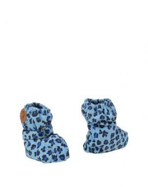 Обувь для новорожденных MINI RODINI. Цвет: небесно-голубой