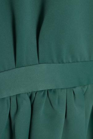 Однотонное платье Cyrille Gassiline. Цвет: зеленый