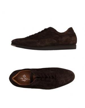 Низкие кеды и кроссовки ANDREA VENTURA FIRENZE. Цвет: темно-коричневый