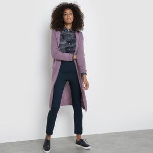 Кардиган длинный La Redoute Collections. Цвет: лавандовый,светло-розовый,сине-серый,черный