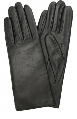 Кожаные перчатки с подкладкой из кашемира и шерсти Agnelle. Цвет: черный