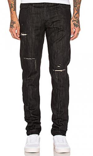 Облегающие джинсы Black Scale. Цвет: черный