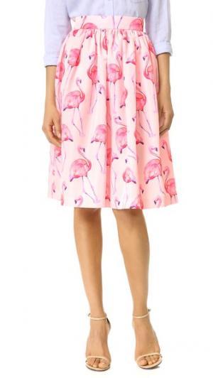 Юбка Pink Flamingo PARTYSKIRTS. Цвет: розовый фламинго