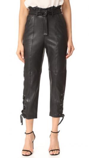 Кожаные брюки Kitana Marissa Webb. Цвет: голубой