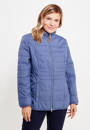 Куртка утепленная Ulla Popken. Цвет: синий