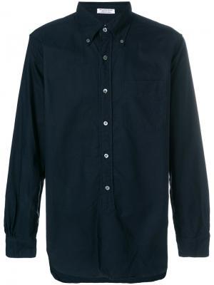 Рубашка с воротником на пуговицах Engineered Garments. Цвет: синий