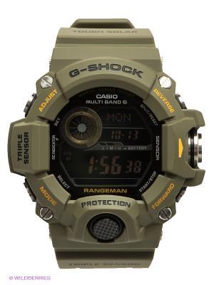 Часы G-SHOCK GW-9400-3E CASIO. Цвет: хаки