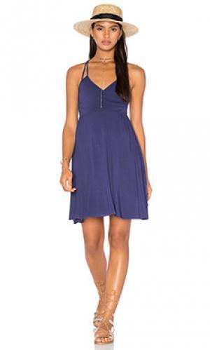 Платье миди LA Made. Цвет: фиолетовый