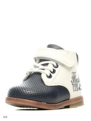 Ботинки Mursu. Цвет: белый, синий