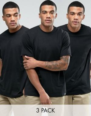 Dickies 3 футболки. Цвет: черный