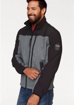 Куртка MANS WORLD MAN'S. Цвет: черный/меланжевый