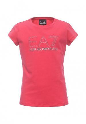 Футболка EA7. Цвет: розовый