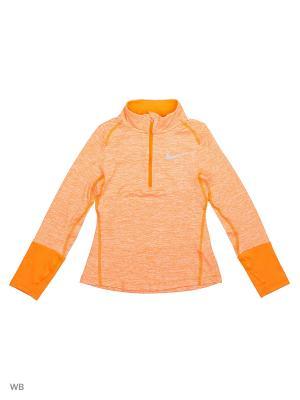 Лонгслив G NK DRY TOP LS ELMNT HZ Nike. Цвет: оранжевый