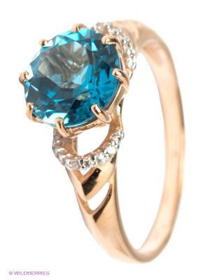 Кольцо SOKOLOV. Цвет: голубой, золотистый