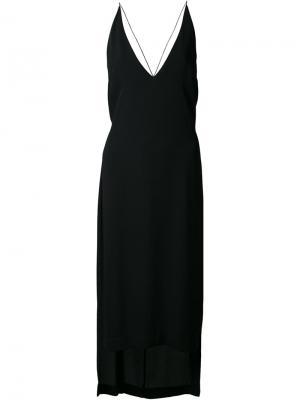 Платье с глубоким V-образным вырезом Dion Lee. Цвет: чёрный