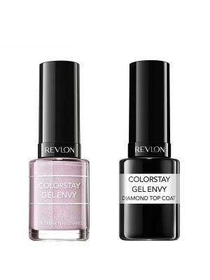 Revlon Набор: 004 гель-лак colorstay gel envy beginners luck 030 + верхнее покрытие. Цвет: бледно-розовый
