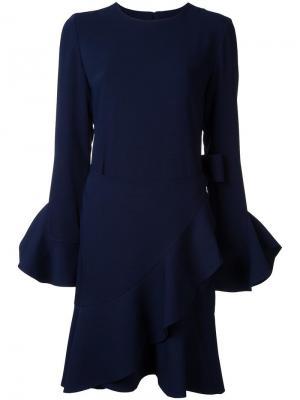 Платье с оборками Goen.J. Цвет: синий