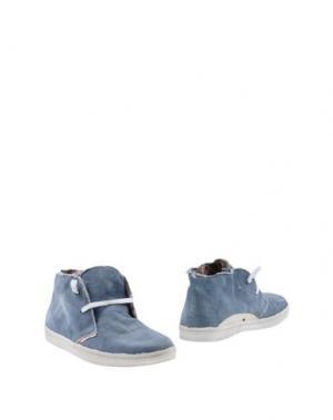 Полусапоги и высокие ботинки LE CROWN. Цвет: синий