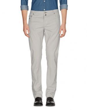 Повседневные брюки LUIGI BORRELLI NAPOLI. Цвет: светло-серый