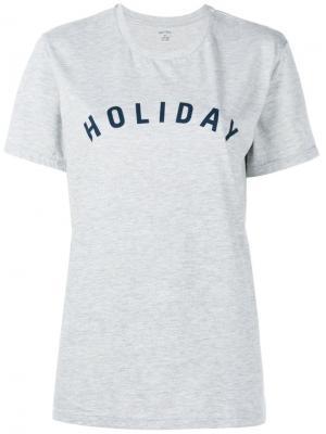 Футболка с принтом-логотипом Holiday. Цвет: серый