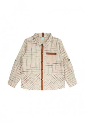 Рубашка AnyKids. Цвет: бежевый