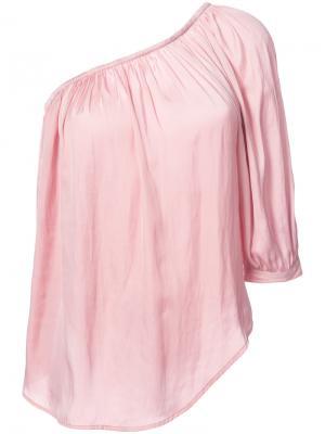 Топ на одно плечо Smythe. Цвет: розовый и фиолетовый