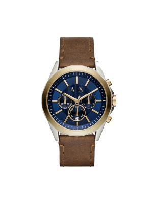 Часы Armani Exchange. Цвет: синий, золотистый, коричневый