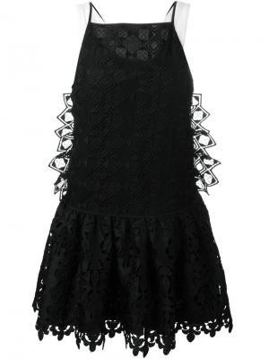 Расклешенное платье Nº21. Цвет: чёрный