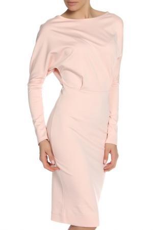 Офисное платье с длинным рукавом MARIEM. Цвет: бежевый