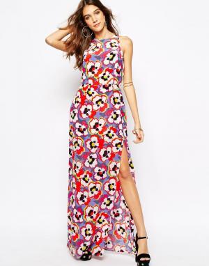 Yumi Kim Платье макси с разрезом и принтом. Цвет: мульти