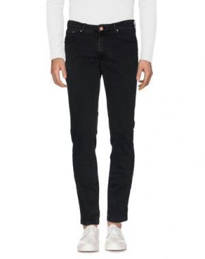 Джинсовые брюки B SETTECENTO. Цвет: черный
