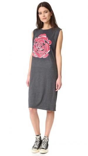 Платье Rose без рукавов 6397. Цвет: черный/красный