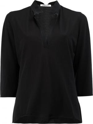 Рубашка с V-образным вырезом Lamberto Losani. Цвет: чёрный