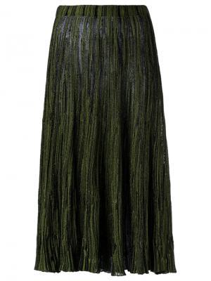Knit midi skirt Gig. Цвет: зелёный