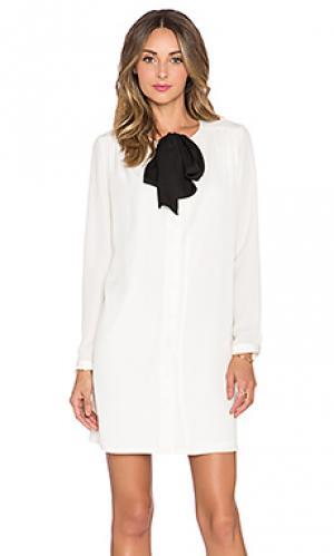 Платье с завязкой на шее BLAQUE LABEL. Цвет: ivory