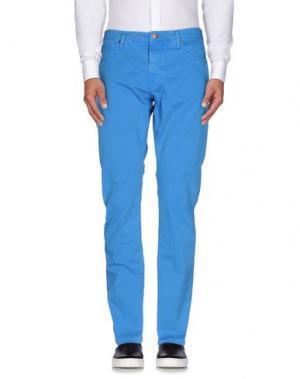 Повседневные брюки REIGN. Цвет: ярко-синий