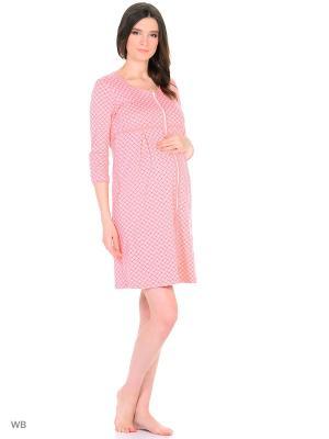 Халат женский для беременных и кормящих Hunny Mammy. Цвет: оранжевый, персиковый